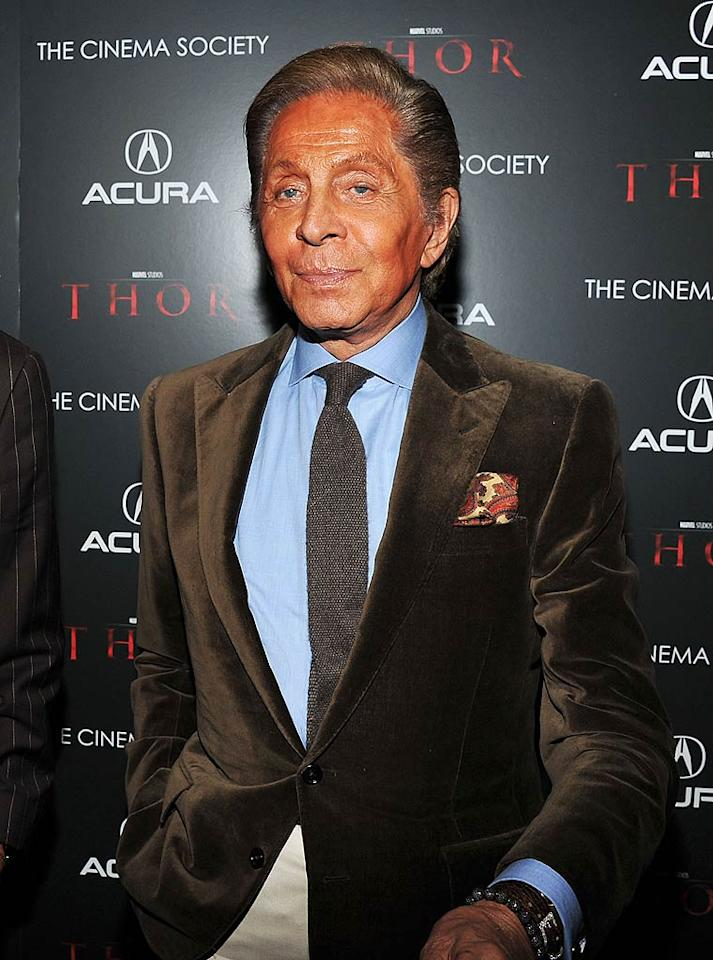 """Valentino turns 79 Theo Wargo/<a href=""""http://www.gettyimages.com/"""" target=""""new"""">GettyImages.com</a> - April 28, 2011"""