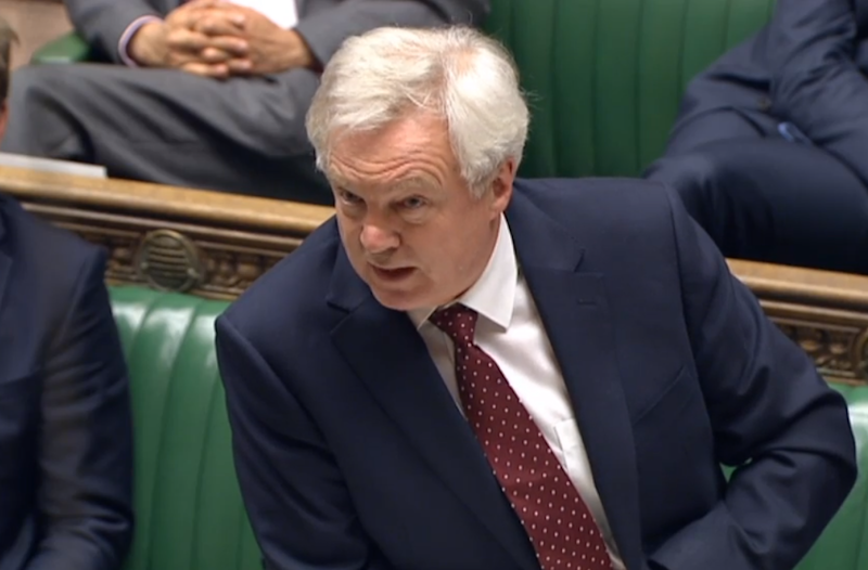 David Davis, Brexit Secretary, winding up tonight's debate in the House of Commons