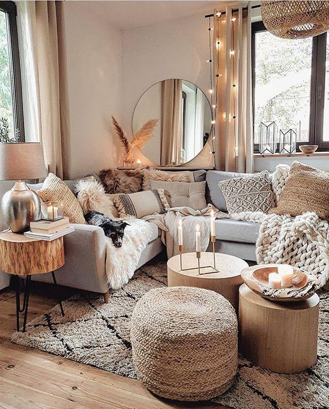 "<p>With thick knit throws, fairy lights and cosy cushions, this gorgeous living room is the perfect place for unwinding. Just look at the pup...</p><p><a href=""https://www.instagram.com/p/CHCmSgFlxEA/"" rel=""nofollow noopener"" target=""_blank"" data-ylk=""slk:See the original post on Instagram"" class=""link rapid-noclick-resp"">See the original post on Instagram</a></p>"