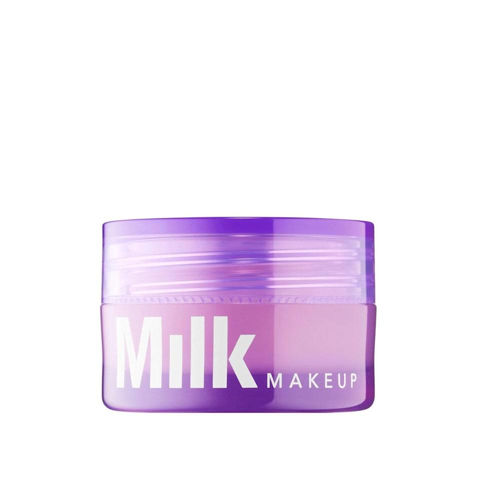 """I carry a lip mask with me just about everywhere I go (they aren't just for nighttime, you know). Something about a thick slather of hydration throughout the day just instantly satisfies me. Most recently, Milk's Melatonin Lip Mask has brought an extra dose of moisture with its antioxidant-rich ingredients. My lips not only look but feel especially plump and smooth. <em>—T.G.</em> $22, Sephora. <a href=""""https://shop-links.co/1705209623536397303"""" rel=""""nofollow noopener"""" target=""""_blank"""" data-ylk=""""slk:Get it now!"""" class=""""link rapid-noclick-resp"""">Get it now!</a>"""