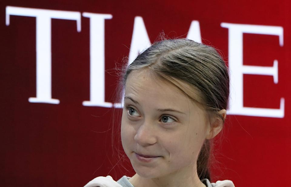 Swedish climate change activist Greta Thunberg attends the 50th World Economic Forum (WEF) annual meeting in Davos, Switzerland, January 21, 2020. REUTERS/Denis Balibouse