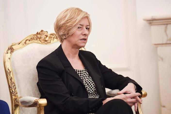 Italian Defence Minister Roberta Pinotti said Rome was expecting its allies to approve a plan to launch patrols off Libya at a summit of NATO leaders on July 7 (AFP Photo/Armend Nimani)