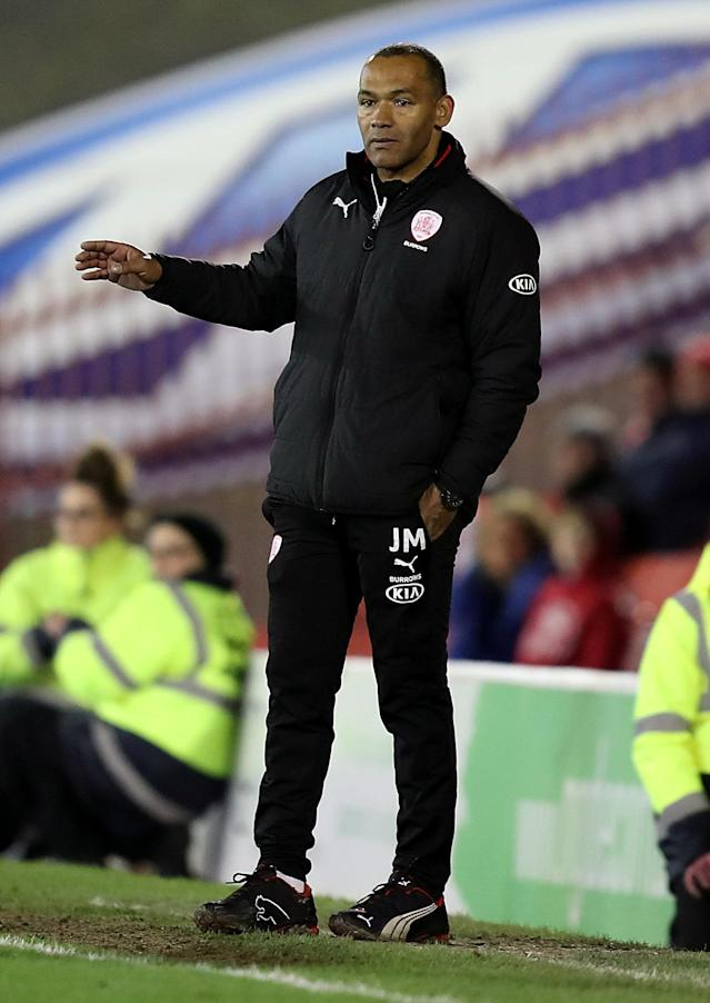 "Soccer Football - Championship - Barnsley vs Burton Albion - Oakwell, Barnsley, Britain - February 20, 2018 Barnsley manager Jose Morais looks on Action Images/John Clifton EDITORIAL USE ONLY. No use with unauthorized audio, video, data, fixture lists, club/league logos or ""live"" services. Online in-match use limited to 75 images, no video emulation. No use in betting, games or single club/league/player publications. Please contact your account representative for further details."