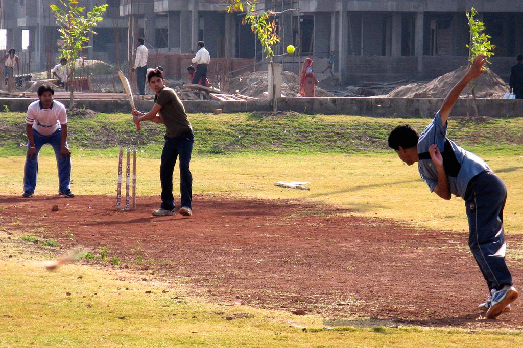 Lucky you are to attend a college with its own cricket ground. By Satyajit Chatterjee at IIT Indore.