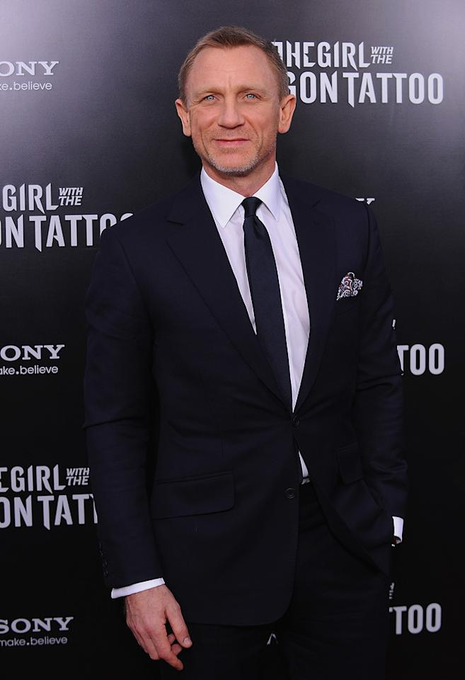 """<a href=""""http://movies.yahoo.com/movie/contributor/1800023173"""">Daniel Craig</a> at the New York premiere of <a href=""""http://movies.yahoo.com/movie/1810163569/info"""">The Girl With the Dragon Tattoo</a> on December 14, 2011."""