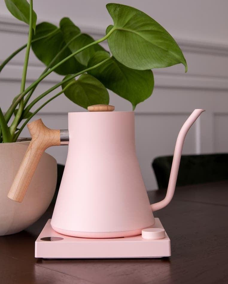 <p>Love pink? Then we have a feeling you've found your match with the <span>Fellow Stagg EKG Electric Pour Over Kettle</span> ($169).</p>