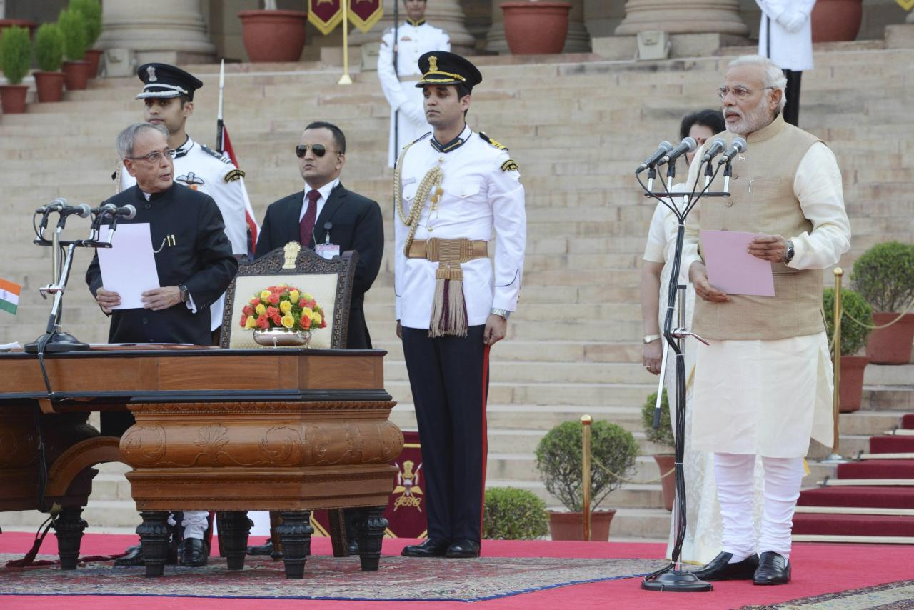 Photos from narendra modi 39 s swearing in ceremony - Prime minister of india office address ...