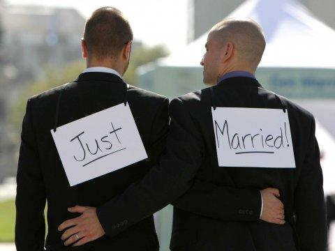 gay couple same-sex marriage