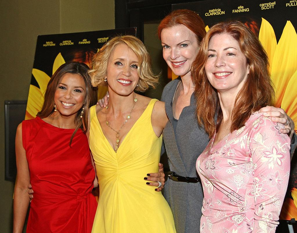 """<a href=""""http://movies.yahoo.com/movie/contributor/1804763686"""">Eva Longoria Parker</a>, <a href=""""http://movies.yahoo.com/movie/contributor/1800026107"""">Felicity Huffman</a>, <a href=""""http://movies.yahoo.com/movie/contributor/1800180750"""">Marcia Cross</a> and Dana Delaney at the Los Angeles premiere of <a href=""""http://movies.yahoo.com/movie/1809912209/info"""">Phoebe in Wonderland</a> - 03/01/2009"""