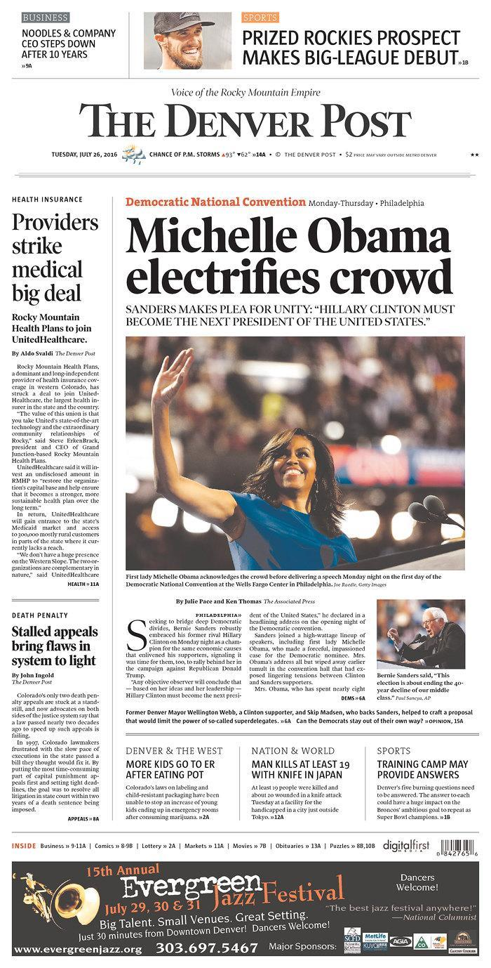 Michelle Obamaelectrifies crowd - The Denver Post