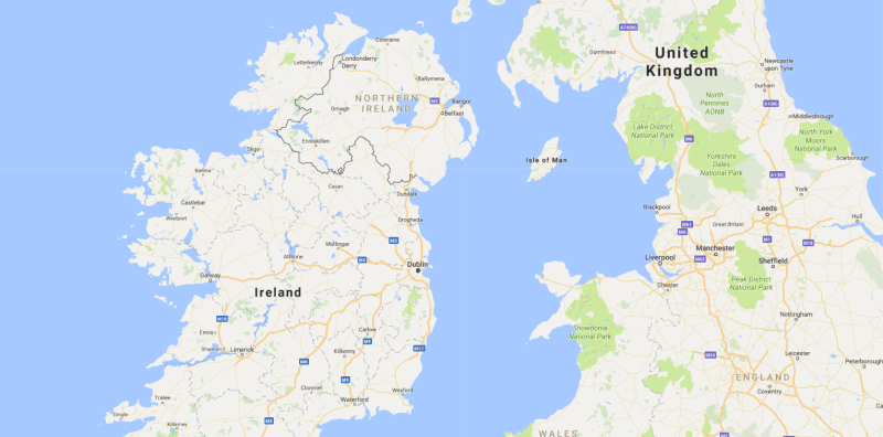 <strong>Reports said Ireland wants the Irish Sea to become its border with the UK post-Brexit</strong> (Google Maps)