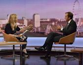 Britain's Secretary of State for Digital, Culture, Media and Sport, Matt Hancock, appears on the BBC's Marr Show in London, Britain, May 20, 2018. Jeff Overs/BBC/Handout via REUTERS