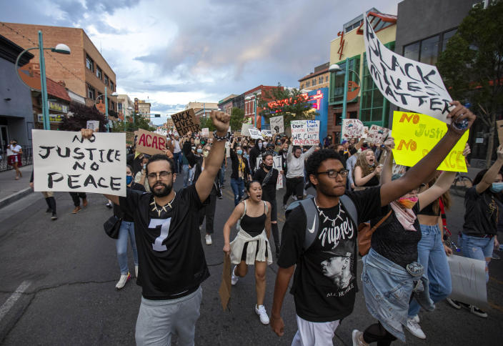 Protests have taken place across the US and around the world. (AP Photo/Andres Leighton)