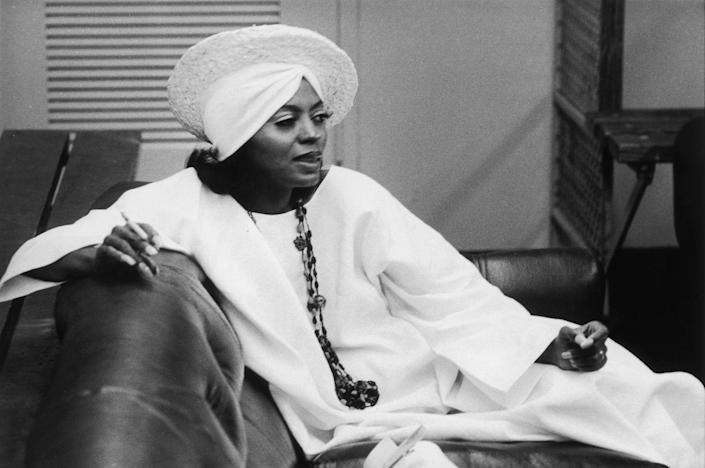 <p>Diana Ross backstage at a concert on the Rolling Stones' 1975 Tour of the Americas.</p>