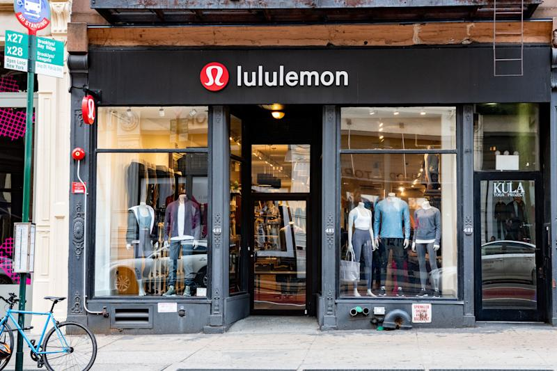 NEW YORK, NY, UNITED STATES - 2018/10/23: Lululemon store in the SoHo neighbourhood of New York City. (Photo by Michael Brochstein/SOPA Images/LightRocket via Getty Images)