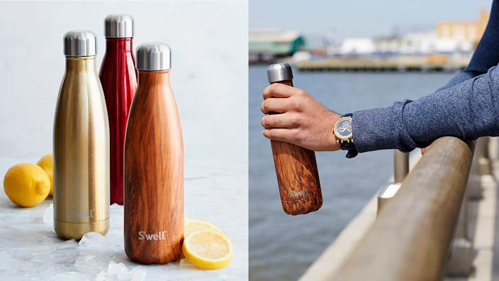 Keep your water cool for up to 24 hours with a S'well bottle.