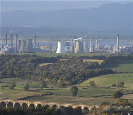 A general view of the Grangemouth refinery in east Scotland October 23, 2013. REUTERS/Russell Cheyne