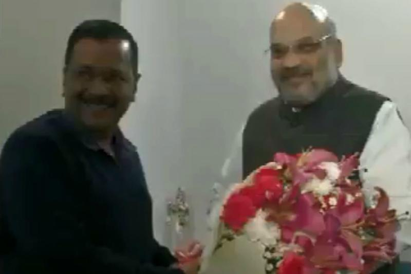In 1st Meeting Since Delhi Polls, Kejriwal Calls on Amit Shah, Says Both Agree to Work Together
