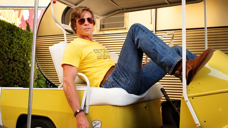 "Legt sich in ""Once Upon a Time... in Hollywood"" mit Bruce Lee an: Cliff Booth alias Brad Pitt (Bild: 2019 Sony Pictures Entertainment Deutschland GmbH)"