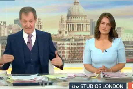 <p>Alistair Campbell presenting the show with Susanna Reid </p> (Good Morning Britain/Twitter)