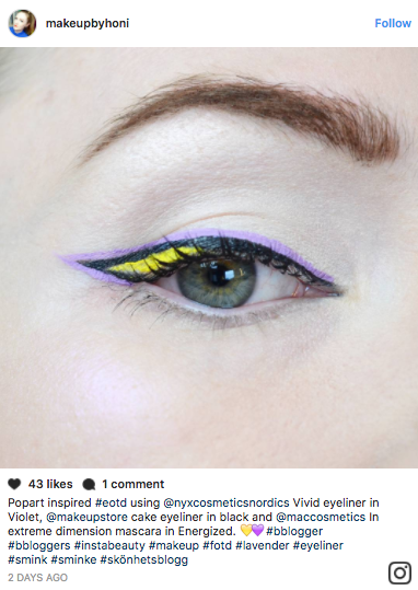 Layered eyeliner is blowing up Instagram right now. Here's how to get the multi-colored version of the classic winged liner look.