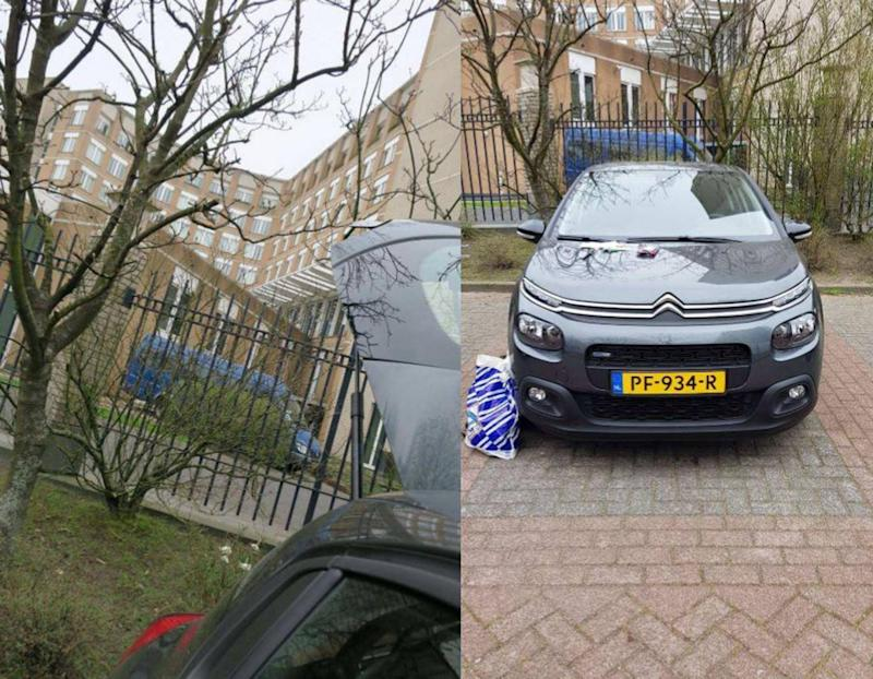 The car carrying hacking equipment used by the GRU officers (Dutch Ministry of Defence/PA)