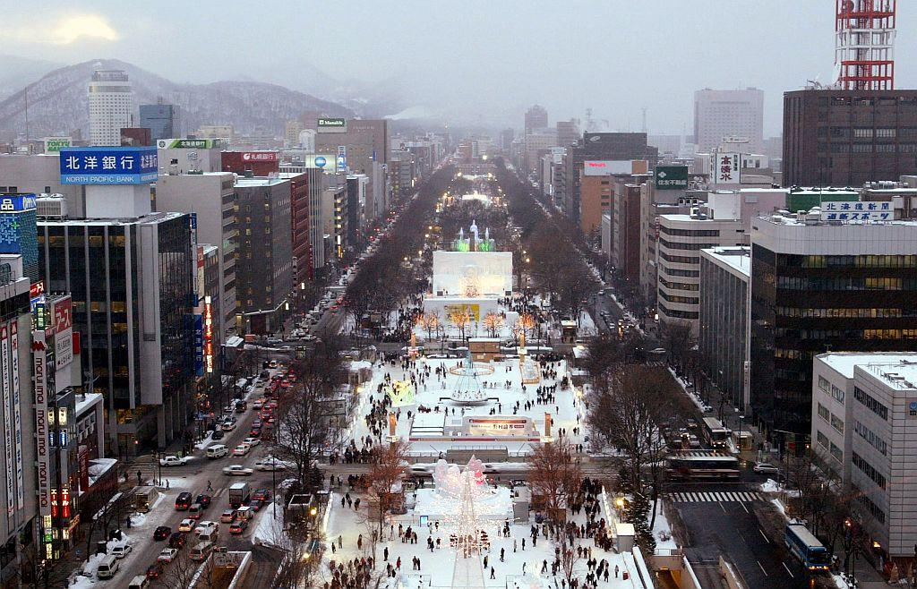 The Sapporo Snow Festival is seen on its opening day in Sapporo, Japan.
