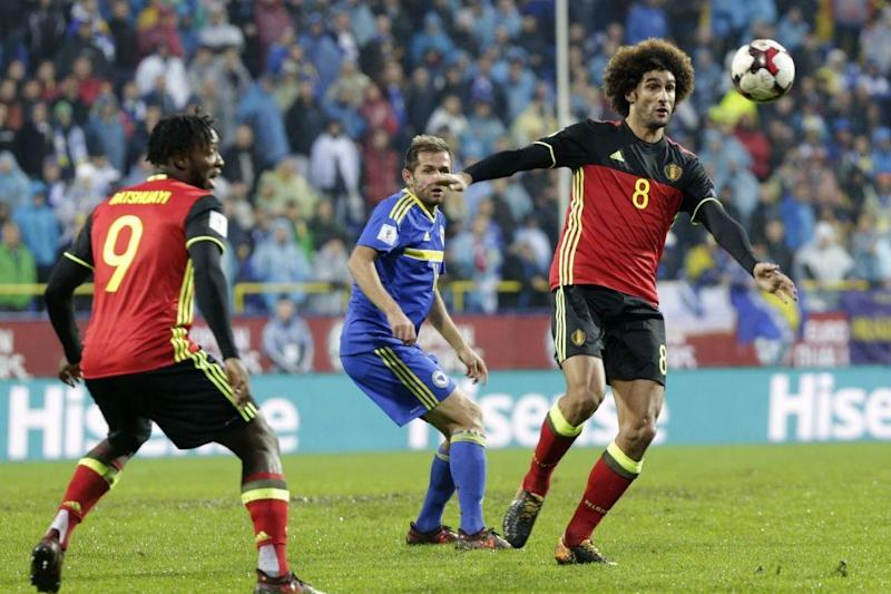 Fellaini exited in the first half of Belgium's win: AP