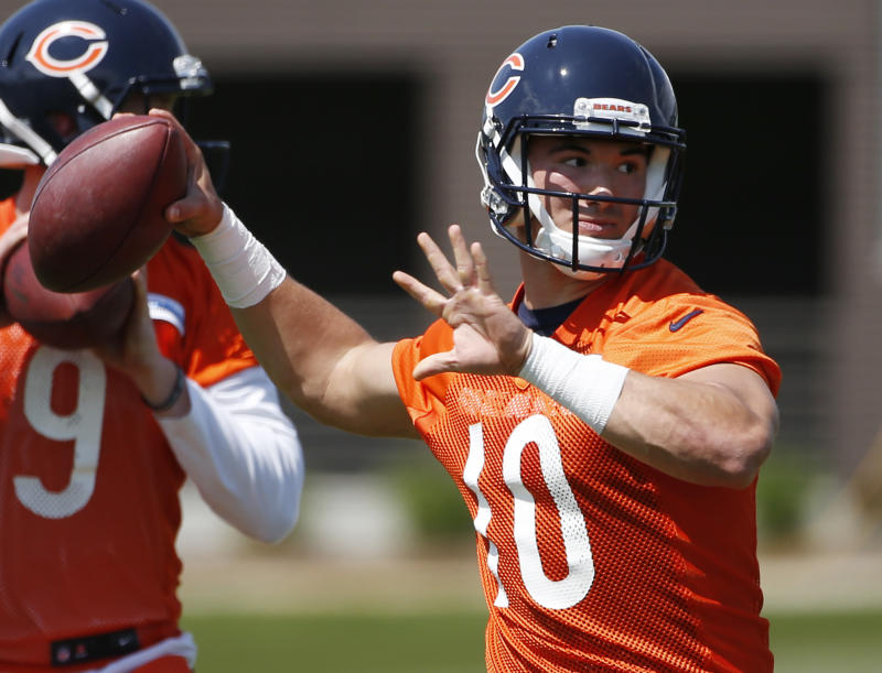 Mitch Trubisky's preseason appearances will be among the highlights of this month in the NFL. (AP)