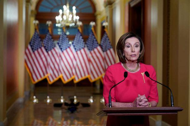 FILE PHOTO: House Speaker Nancy Pelosi, D-Calif., makes a statement about the COVID-19 economic relief legislation from the Speakers Lobby of the U.S. Capitol Building in Washington, D.C., March 23, 2020.  (Joshua Roberts/Reuters, File)