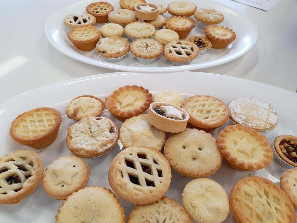 The judges scored the mince pies on a range of criteria including: visual appeal, aroma, flavour, mouthfeel, eatability and pastry to filling ratio. Photo: Supplied