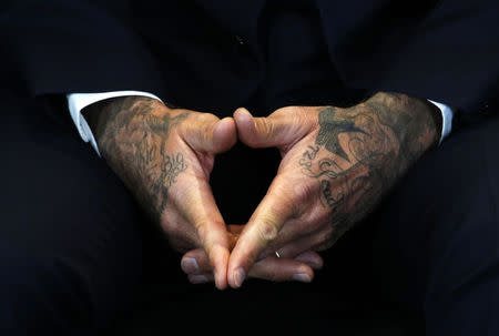 David Beckham attends a press conference to mark his 10 years as a UNICEF Goodwill Ambassador, at Google's headquarters in central London, February 9, 2015.  REUTERS/Peter Nicholls