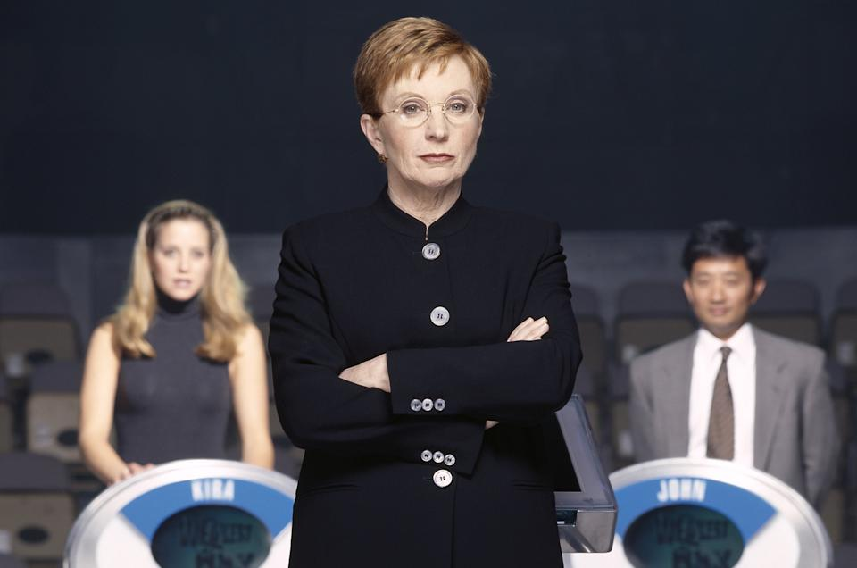 THE WEAKEST LINK -- Pictured: (foreground) Host Anne Robinson (background) unknown contestants -- Photo by: Chris Haston/NBCU Photo Bank
