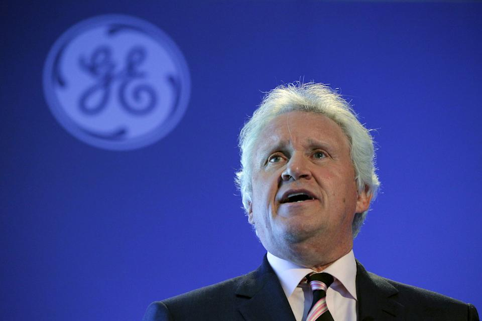 General Electric Co Chief Executive Jeff Immelt speaks at a news conference in Boston, Massachusetts, in this April 4, 2016, file photo. REUTERS/Brian Snyder/Files  GLOBAL BUSINESS WEEK AHEAD PACKAGE - SEARCH 'BUSINESS WEEK AHEAD APRIL 18'  FOR ALL IMAGES