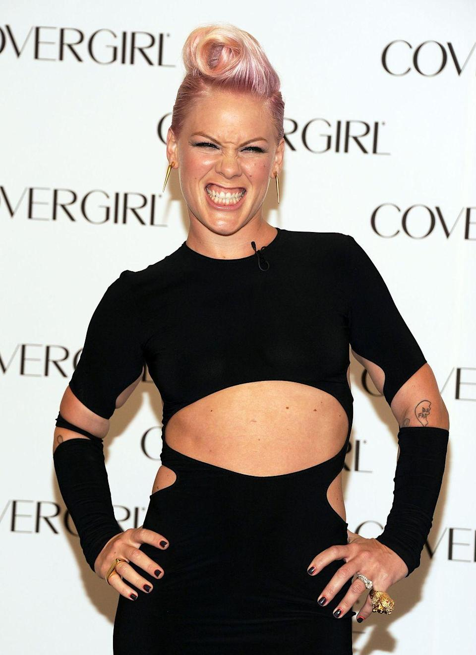 "<p><strong>Born:</strong> Alecia Beth Moore</p><p>The singer <a href=""https://www.livexlive.com/blog/2019/04/30/unraveling-pinks-musical-dna/"" rel=""nofollow noopener"" target=""_blank"" data-ylk=""slk:took her stage name"" class=""link rapid-noclick-resp"">took her stage name</a> from Steve Buscemi's character Mr. Pink in <em>Reservoir Dogs</em>. She recalled to <em>Q Magazine</em>, ""I actually ran into Steve Buscemi on the street in New York before my first album came out. I had these big f---ing Elton John glasses on, pink hair and carried a Pink Panther toy. I went 'Steve! Mr Pink! I'm Pink! Because of you! I'm going to have an album and you're going to know who I am!' And he was like 'What the f--k, lady?' and just ran away from me. I've never met him since.""</p>"