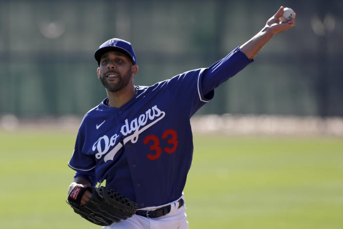 "<a class=""link rapid-noclick-resp"" href=""/mlb/players/8175/"" data-ylk=""slk:David Price"">David Price</a> will sit out in 2020. (AP Photo/Gregory Bull)"