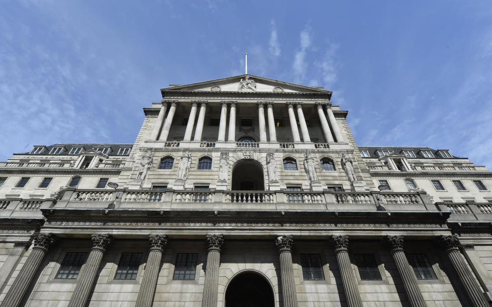 The Bank of England. Photo: Toby Melville/Reuters