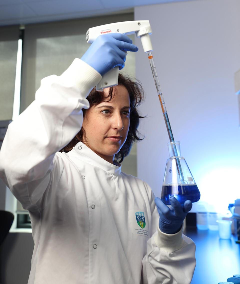 Dr Irene Lara-Saez of the UCD Charles Institute of Technology is part of the team of researchers using pioneering technology to develop a new therapy which could potentially transform the lives of people with the painful skin disease, EB