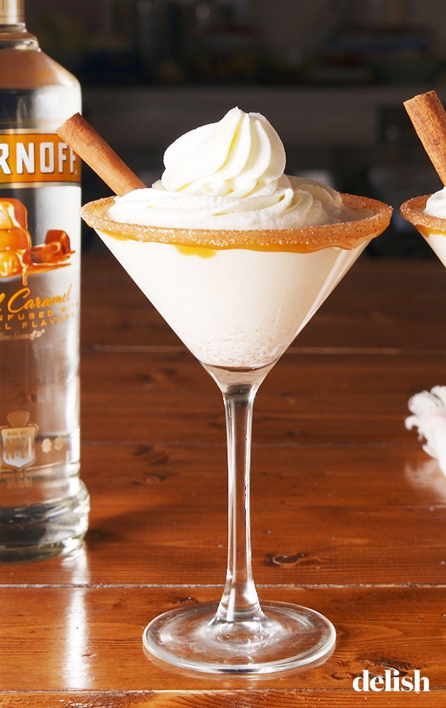 """<p>All the flavor of a snickerdoodle, without the hassle of baking.</p><p>Get the recipe from <a href=""""https://www.delish.com/cooking/recipe-ideas/a26243112/caramel-snickerdoodle-martini-recipe/"""" rel=""""nofollow noopener"""" target=""""_blank"""" data-ylk=""""slk:Delish"""" class=""""link rapid-noclick-resp"""">Delish</a>.</p>"""