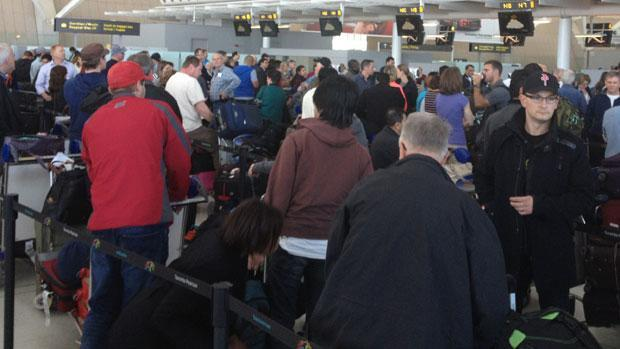A security breach at Toronto's Pearson Airport on Saturday caused international flights to be grounded.
