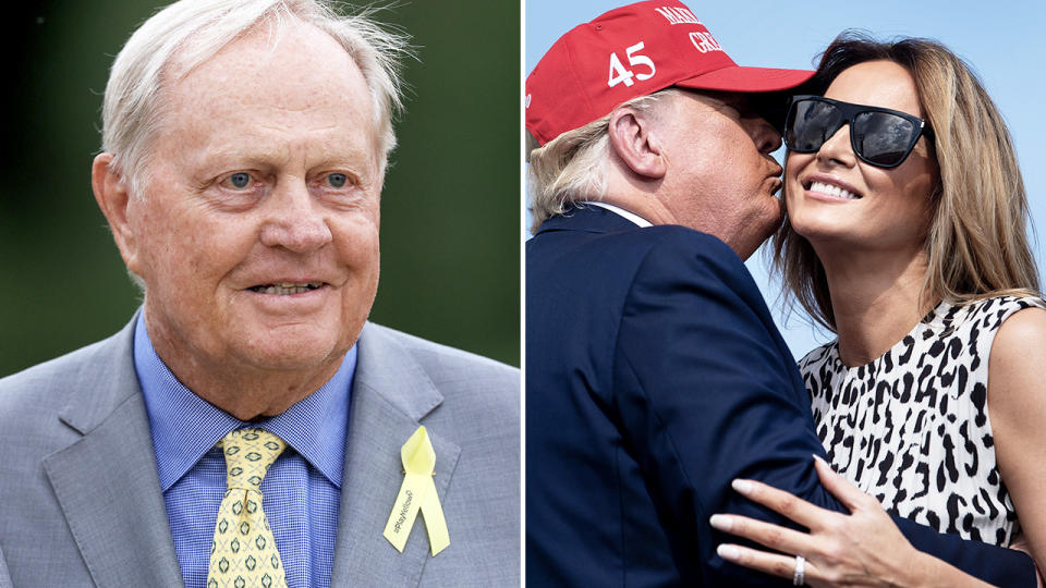 Jack Nicklaus and Donald Trump, pictured here earlier in 2020.