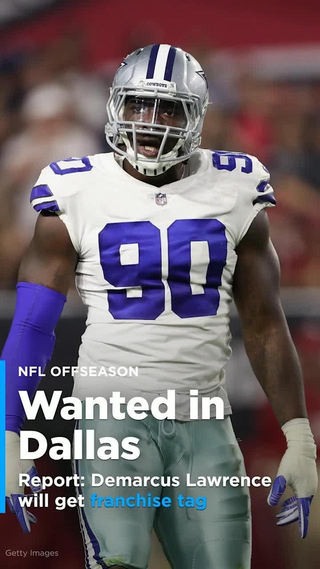 Dallas Cowboys defensive end Demarcus Lawrence won't be allowed to test free agency, as the Cowboys plan to either get a long-term deal done or give him the franchise tag.