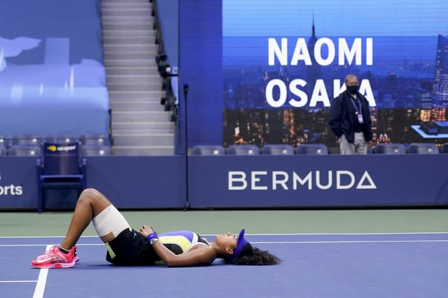 Naomi Osaka soaks it all in after winning the US Open title