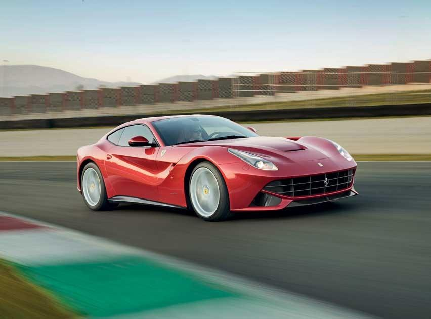Ferrari F12 Berlinetta: 	No-one ever moaned their Ferrari 599GTB lacked power, but its F12 replacement has a titanic 6.3 litre V12 engine capable of delivering 730bhp – 119bhp more than the 599 – if the tyres can find enough grip.  Looks hunched up when cornering. Hope the owners take some driving courses on how to pilot their £240,000 projectiles. And yes, I'd still rather have an F40 or an Enzo (Ferrari)