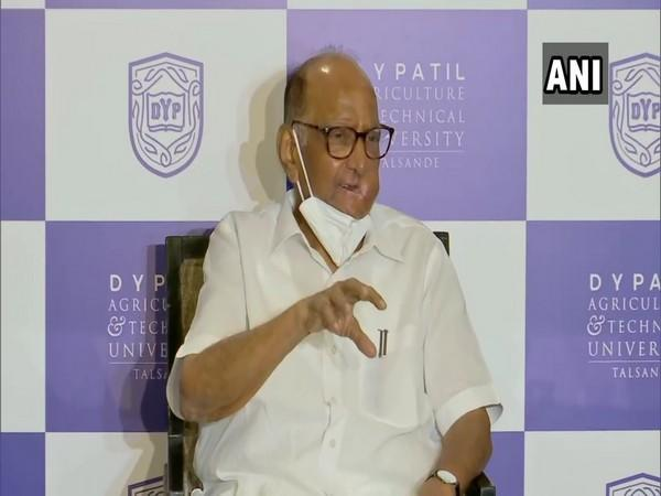 NCP chief Sharad Pawar speaking at a event in Mumbai on Thursday.