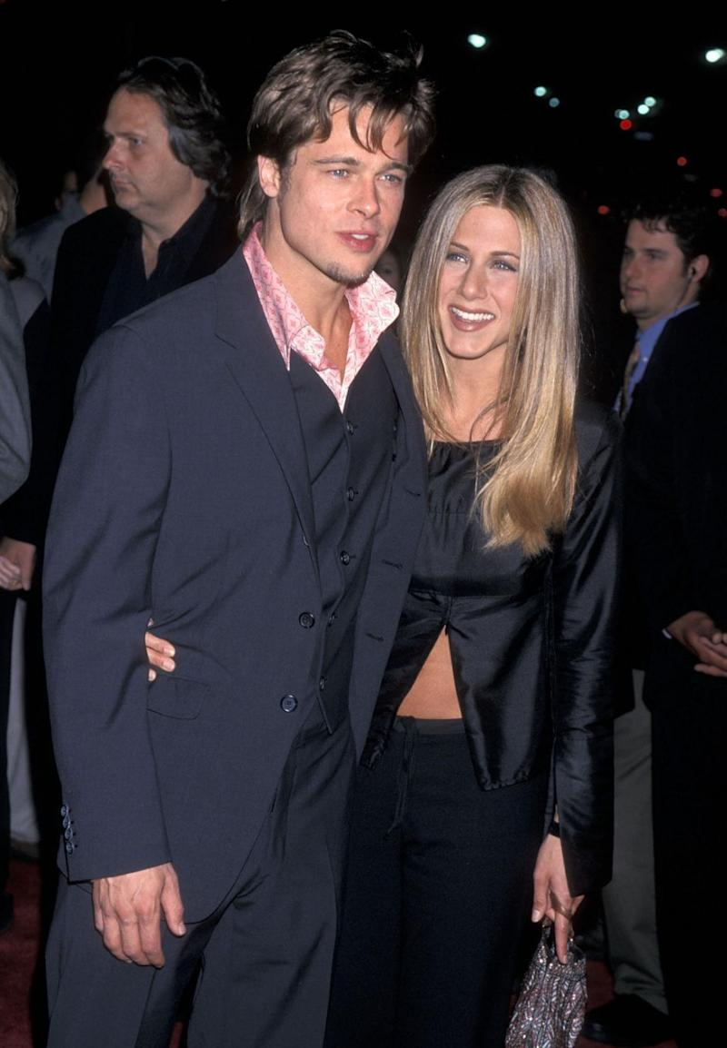 Brad Pitt and Jennifer Aniston (pictured here together in 1999) are reportedly still