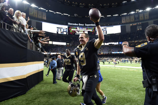 Drew Brees and the Saints are in solid position to earn the No. 1 seed in the NFC playoffs. (AP)