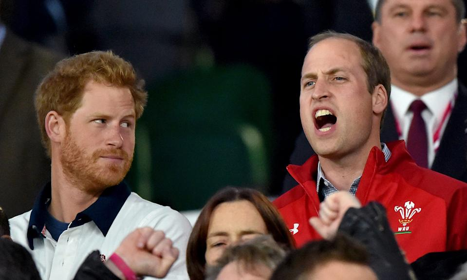 prince william prince harry rugby