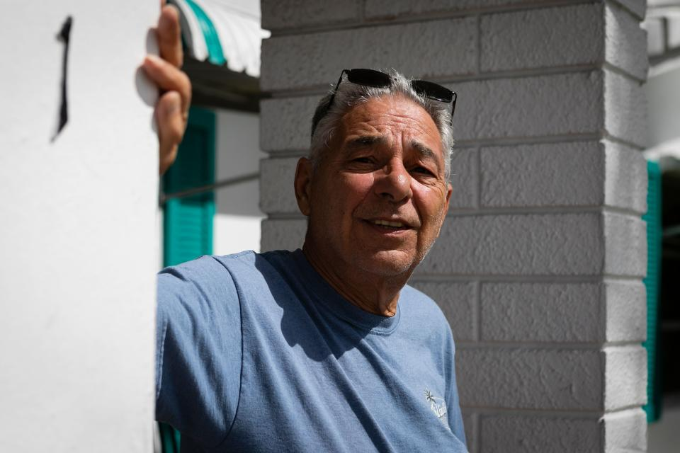 """Michael Bonacci, 74 years-old, living for 10 years in Leisureville, an age-restricted senior community, poses for a photo at his home at Leisureville in Pompano Beach, Florida, on March 12, 2020. - Florida, often called """"the grayest state"""" in the US because so many elderly retire here, is facing up to the fact that it has an alarming concentration of the demographic most at-risk from coronavirus. """"Everything is an uncertainty because we don't know how this is going to end, you know?"""" said Anita Lammersdorf. """"How bad is it going to be?"""" asked the 80-year-old Lithuanian-American who still works as a real estate agent. (Photo by Eva Marie UZCATEGUI / AFP) (Photo by EVA MARIE UZCATEGUI/AFP via Getty Images)"""
