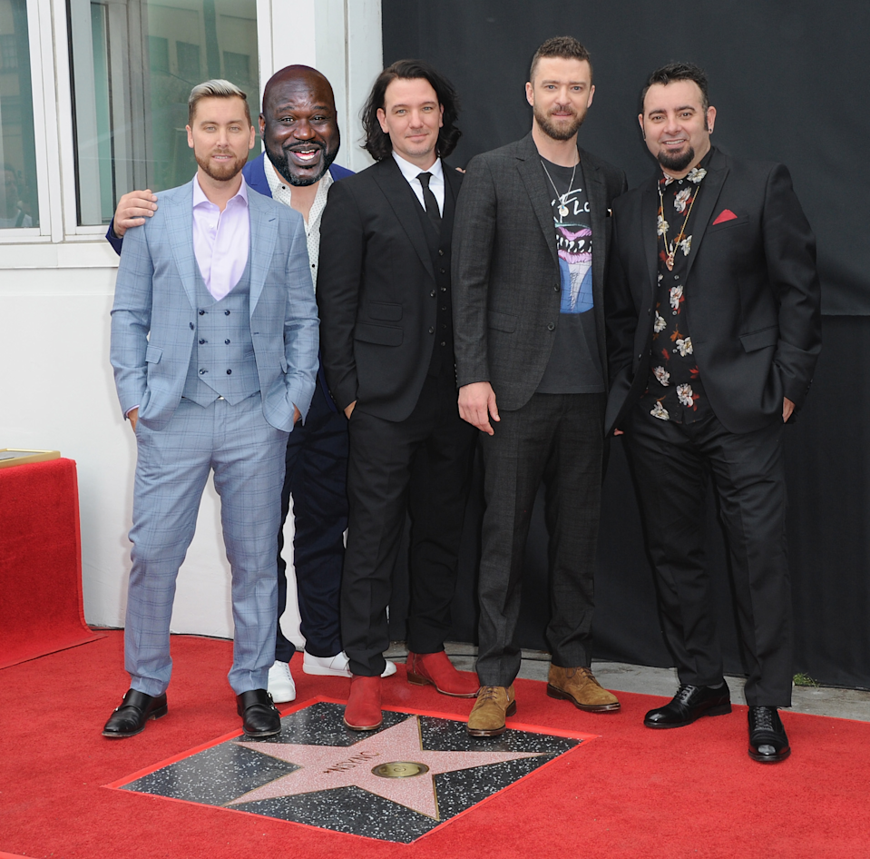 A mix-up led Google search results to list Shaquille O'Neal as a member of 'NSync. Sorry, Joey Fatone! (Photo: Getty Images)